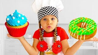 Roma And Diana Pretend Play Cooking Food Toys With Kitchen Play Set موسيقى مجانية Mp3