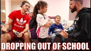 6 Year Old Wants To Drop Out Of School PRANK!!