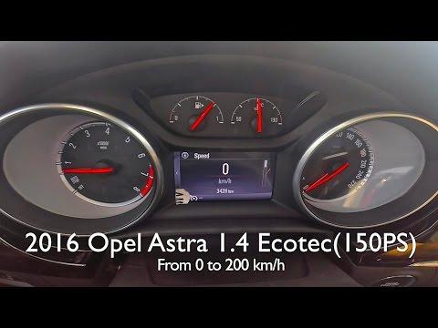 2016 Lancer Evolution >> 2016 Opel Astra 1.4 Turbo (150 PS) Acceleration Test ...