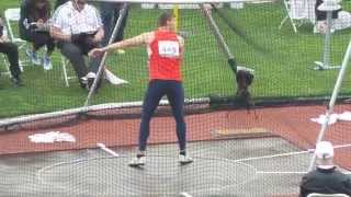 WJCH Eugene Decathlon - Jan Dolezal Discus 42,83m