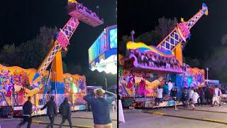 Carnival Ride Starts to Lose Control