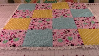 No Binding Baby Quilt - Very Detailed Instructions