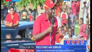 Deputy President William Ruto empathizes Jubilee's plan of free Primary and Secondary education