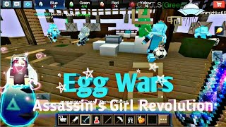 Blockman Go   Egg Wars   Playing with Diamond's Squad and Friends