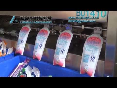 Natural Fruit Juice Filling sealing packing machine for stand up pouch