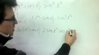 Derivace součinu v kombinaci se složenou funkcí 1