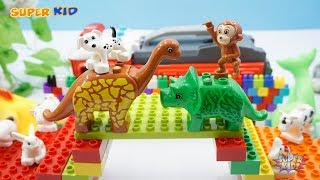 Assembly Lego Toys Assembling Bridges and Lego Animals   Toys For Baby