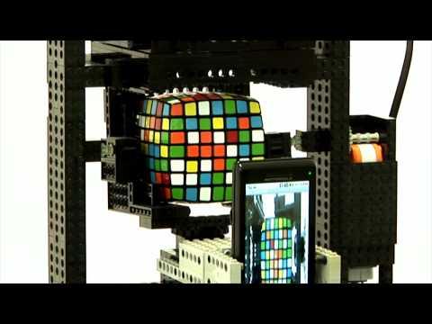 Lego Android Robot Solves 7x7x7 Rubik Cube