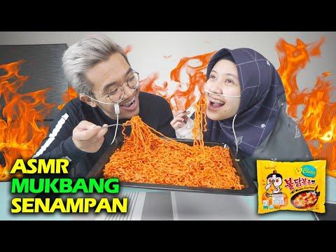 ASMR MUKBANG SAMYANG CHEESE MELELEH DI MULUT !