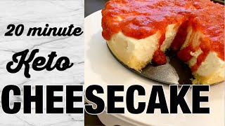 KETO Cheescake in 20 minutes. Instant Pot Keto dessert fast and easy! Low Carb and Gluten Free!