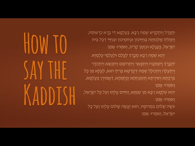 the mourners kaddish a memorial prayer in praise of god my jewish learning