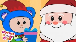 Christmas Song | Up on the Housetop | Mother Goose Club Kid Songs and Nursery Rhymes