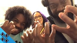 The Second Infinity War trailer dropped so I grabbed Kofi, Sasha, and Sheamus to watch it. AND ITS SO GOOD!