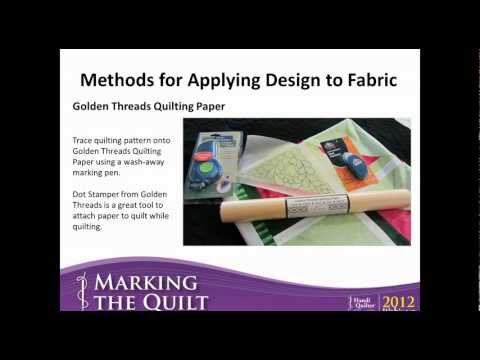 Marking The Quilt (Consumer Webinar 04.12.2012)
