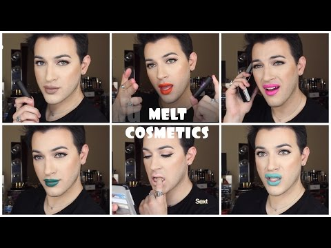 Melt Cosmetics Lipstick Swatches and Review | MannyMua