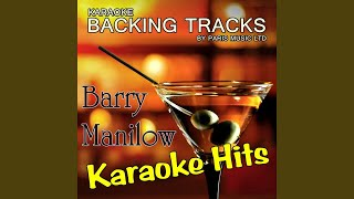 I'm Coming Back - Live At the O2 Arena (Originally Performed By Barry Manilow) (Karaoke Version)