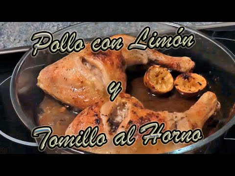 Receta de Pollo con Limón y Tomillo al Horno