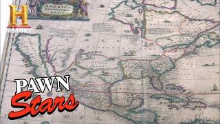 Pawn Stars: Rick SPENDS BIG on RARE 1650 MAP and ELTON JOHN'S BOOTS (Season 8)   History