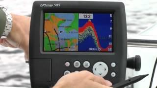 Картплотер (Эхо+GPS) Garmin GPSMAP 585 Plus від компанії CyberTech - відео