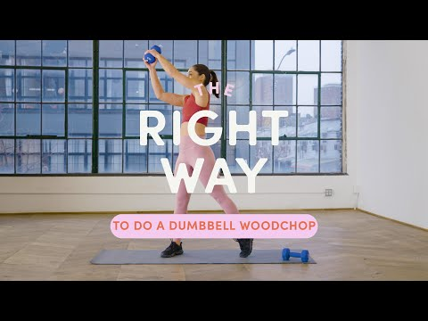 How To Do A Dumbbell Woodchop | The Right Way | Well+Good