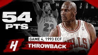 The Game Michael Jordan DROPPED 54 Points with CLUTCH SHOT vs Knicks | Game 4, 1993 NBA Playoffs