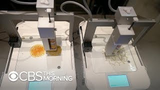 Dutch chef uses 3D printers to create tasty works of art - Video Youtube