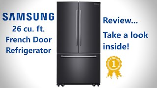 Samsung French Door Refrigerator with Internal One Touch Water Filter Review. Model no. RF261BEAESG