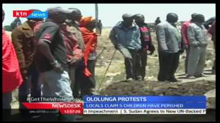Ololunga Residents demonstrate over road accidents claiming the lives of their children