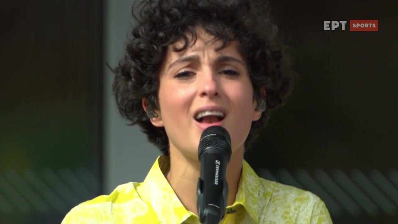 Η Barbara Pravi τραγουδάει στον τελικό του Roland Garros | 12/06/21 | ΕΡΤ