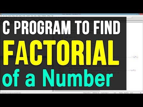 C Programming Exercise – Factorial Program Video Tutorials