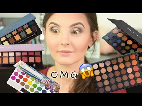 Numbers Pick My Makeup..USING ALL MY PALETTES! | Random Numbers Pick My Makeup Challenge