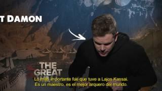 """La Gran Muralla"" Entrevista a Matt Damon"