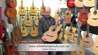 Admira guitar review flamenco virtuoso and teresa  from $600 to $1600 range.