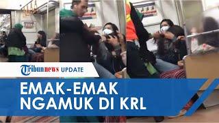 Viral Video Keributan Emak-emak Jambak Wanita di KRL hingga Aksi Menampar Wajah
