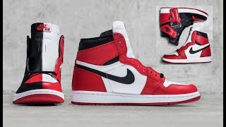 27ed58cb3cf5dd AIR JORDAN 1 HOMAGE TO HOME RETRO SNEAKER WITH SPLIT BRED CHICAGO COLORWAY