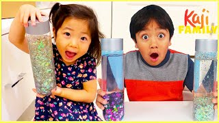 Make your own Sensory Bottle with Ryan and more fun kids arts and craft activities!!