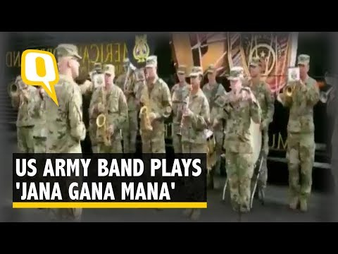 US Army Band Plays Indian National Anthem During Joint Exercise | The Quint