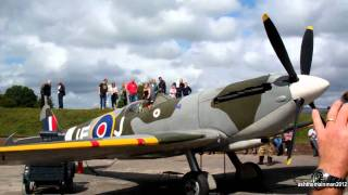 preview picture of video 'RAF Harrowbeer | Display Spitfire Start Up | 14/8/2011'