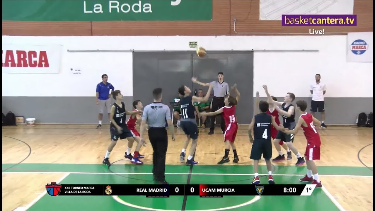 U12M - REAL MADRID vs. UCAM MURCIA - Torneo Internacional La Roda 2019 (BasketCantera.TV)