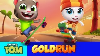 Crazy Skateboard Chase - Talking Tom Gold Run (NEW Update Trailer)