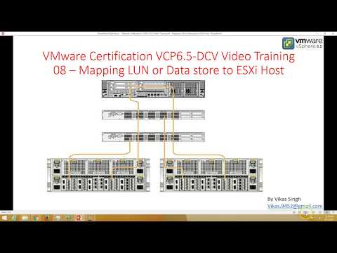 VMware Certification VCP 6.5 - 08 Mapping LUN or Data store to ESXi Host