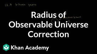 (Correction) Radius of Observable Universe
