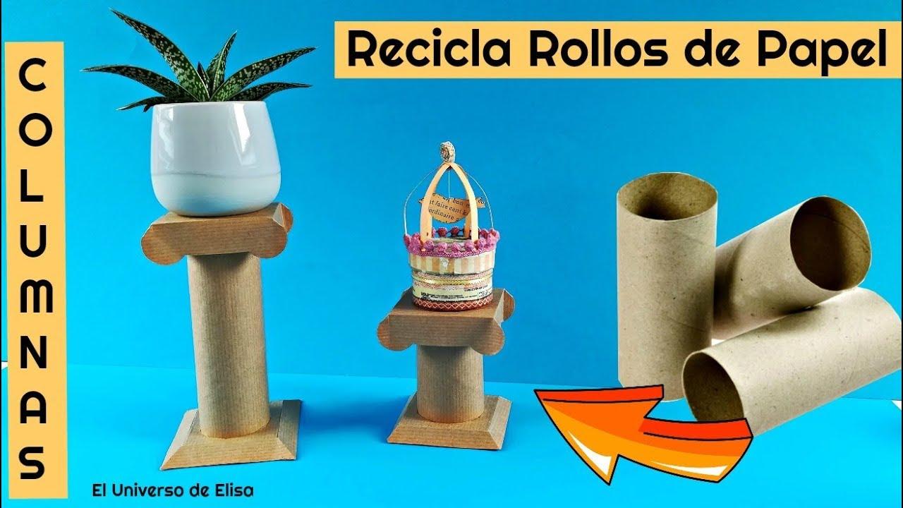 Manualidades con Rollos de Papel Higiénico, Manualidades de Reciclaje,  Columna con Rollo de Papel