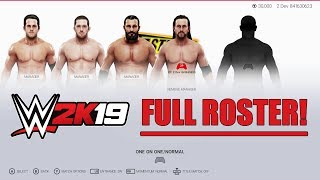 WWE 2K19 FULL ROSTER Selection Screen: All Superstars, Legends, Attires, and Managers!
