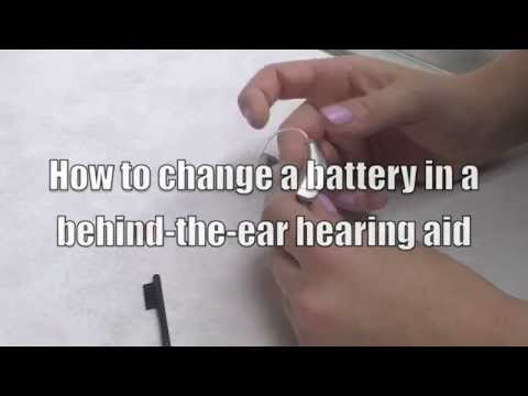 How to change a battery in a behind-the-ear hearing aid
