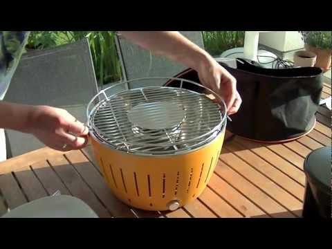 Rauchfreier Holzkohlegrill Lotusgrill : Lotusgrill holzkohlegrill limettengrün günstig kaufen