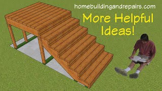 Exterior Wood Stairway Design Ideas And More For Deck Builders