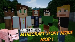 "LE MOD MINECRAFT STORY MODE ! | Présentation du mod ""MINECRAFT STORY MODE MOD""! - [1.8]"
