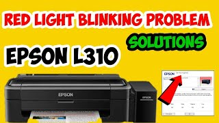 how to reset epson l110 l210 l300 l350 l355 - solved red