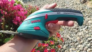 Обзор на Аккумуляторные ножницы Bosch Isio он же Кусторез Bosch Isio. Уход за газоном легко и просто